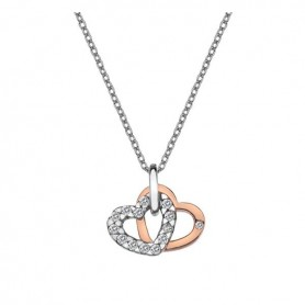 Colar Hot Diamonds Double Heart Rosegold - DP683