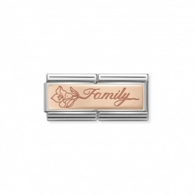 Link Nomination Composable Classic Double Family com Flor - 430710/17