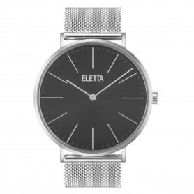 Relógio Eletta Drive Silver Black - ELD010GPMS