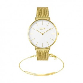 Pack Relógio Eletta Mood White & Gold - ELA800LBMGX