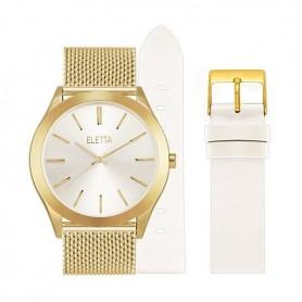 Pack Relógio Eletta Essence Gold & White - ELA431LBMGX