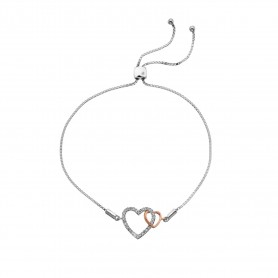Pulseira Hot Diamonds Togetherness Open Heart - DL590