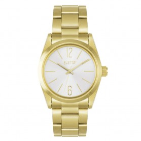 Relógio Eletta Attitude White & Gold - ELA520LBMG