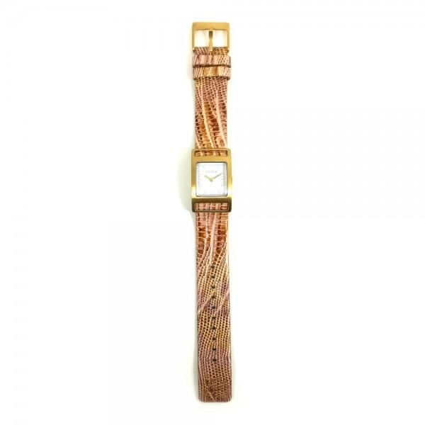 Relógio Mango Dourado Branco - QM2613201