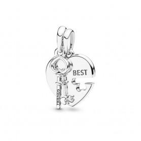 Pendente Chave e Coração Best Friends - 398130