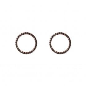 Brincos de Prata Dourada Unike Glow Circle B&R - UK.BR.1204.0059