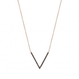 Colar de Prata Dourada Unike Glow Triangle B&R - UK.CL.1204.0108