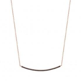 Colar de Prata Dourada Unike Glow Curve B&R - UK.CL.1204.0109