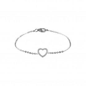 Pulseira de Prata Unike Meanigful Coração - UK.PU.1205.0004