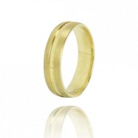 Aliança Ouro 9K Zerus 5,5 mm com Friso - 9KALA064
