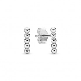 Brincos PANDORA Row of Beads - 298359