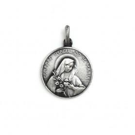 Medalha em Prata Coração de Maria