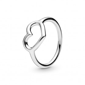 Anel PANDORA Polished Open Heart - 198613C00