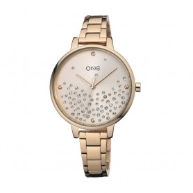 Relógio One Bright Dourado Rosa - OL0450RR92W