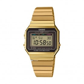 Relógio Casio Digital Vintage Edgy Dourado - A700WEG-9AEF