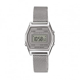 Relógio Casio Digital Vintage Prateado - LA690WEM-7EF
