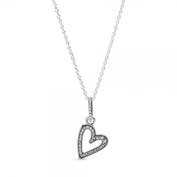 Colar PANDORA Pendente Freehand Heart - 398688C01