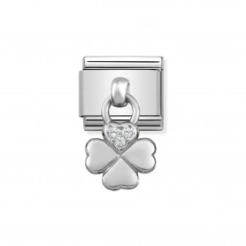 Link Nomination Composable Classic Pendente Trevo 4 Folhas - 331800/02