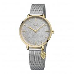 Relógio One Leaf Prateado e Dourado - OL8448SD92L