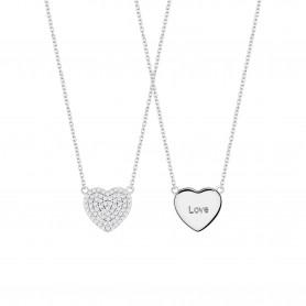 Colar de Prata Unike Meaningful Coração - Dia dos Namorados