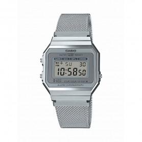 Relógio Casio Digital Vintage Edgy Prateado - A700WEM-7AEF