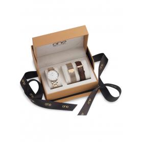 Relógios One Minimal Box Set Rose Gold - OL7557BI81L