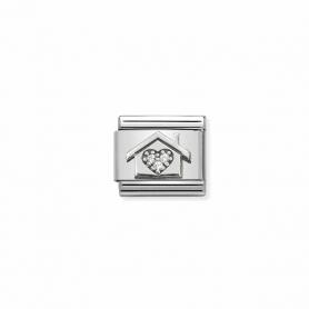 Link Nomination Composable Classic Casa com coração - 330311/11