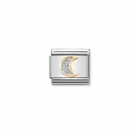 Link Nomination Composable Classic Glitter Lua - 030220/05