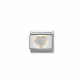 Link Nomination Composable Classic Glitter Coração - 030220/02