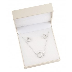 Pack Colar e Brincos de Prata Unike Valentines 2021 Silver - UK.PK.1204.0011