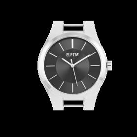 Relógio Eletta Icon Silver Black - ELA550LP-S